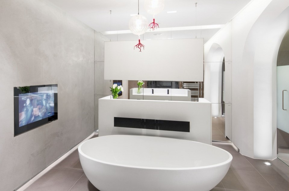This Chelsea Bathroom is programmed to take the stress out of urban living, effortlessly controlling temperature, lighting and audio-visual entertainment.