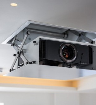 JVC projector on a Future Automation mount enables this technology to be hidden when not in use.