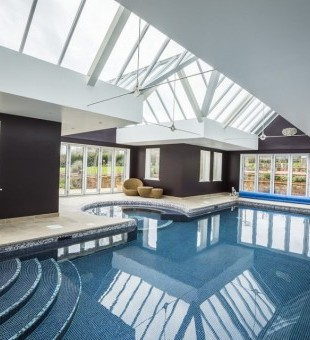 The pool area was fitted with waterproof Bowers and Wilkins speakers.