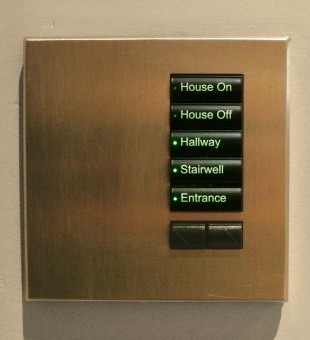 International Lutron SeeTouch Keypads can be programmed with set scenes