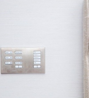 Custom made Lutron Keypad designed to our clients specification.
