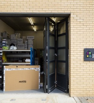 The workshop is now easily accessible for delivery drivers and our engineers.  It is also where the AV rack can be found which holds all the AV equipment.