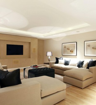This Home Cinema fuses technology with the clean design of a classic family room to deliver a multifunctional space.