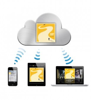 A home control system uses the cloud - so any media uploaded is automatically uploaded to integrated devices (even within a different property!)