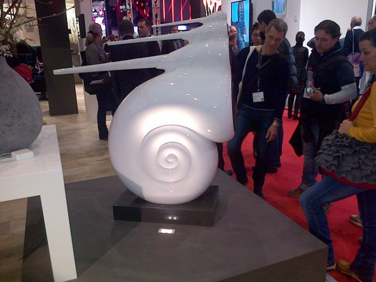 "Bert's text into the Office last Wednesday Morning ""The B&W Nautilus speaker, iconic and attracting a lot of attention – get it out there!"""